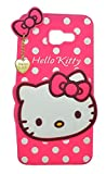 Explocart 3D Cute Hello Kitty Silicone with Pendant Soft Rubber Back Cover for Samsung Galaxy J7 Prime - (Pink)