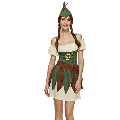 Imagen de disfraz robin hood mujer arquera xs 32/34 ropa caminante de los bosques ropa elfo cuento de hadas atuendo ladrona caracterización edad media