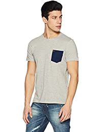 Amazon Brand - Symbol Men's Color Block Roundneck T-Shirt