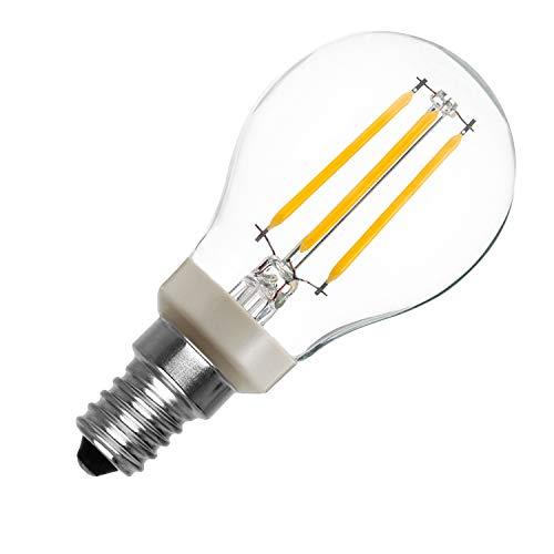 Bombilla LED E14 P45 Regulable Filamento Luster CLA 5W Blanco Cálido 2700K efectoLED