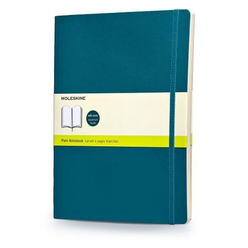 Moleskine Soft Extra Large Underwater Blue Plain Notebook por Moleskine