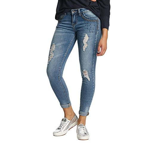 Hailys Donna Jeans / Jeans slim fit Ines Destroyed Blu