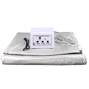 TOPQSC Far Infrarot Sauna Decke Sliming Decke Gewichtsverlust Sauna Detox-Therapie-Maschine 3 Zonet