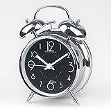 Warm Heart Horloge Réveil Métal Créatif Horloge Muette Travail Horloge Chevet...
