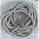 Build Home 20 Meters (8 mm) Cotton Rope Braided for Drying Clothes, Indoor and Outdoor Laundry Clothesline