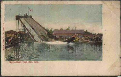 postal-antigua-old-postcard-shooting-the-chutes-milwaukee-usa