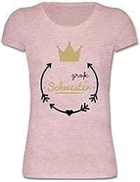 Geschwisterliebe Kind - Große Schwester - Krone - Mädchen T-Shirt