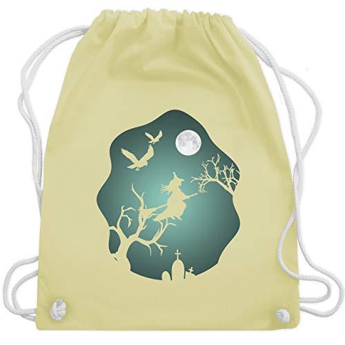 Kostüm Mops Einfach - Halloween - Hexe Mond Grusel Grün - Unisize - Pastell Gelb - WM110 - Turnbeutel & Gym Bag