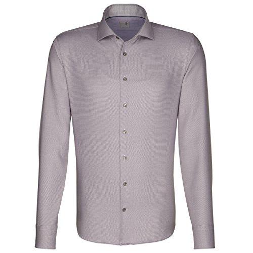 Seidensticker -  Camicia classiche  - A righe - Classico  - Uomo Marrone