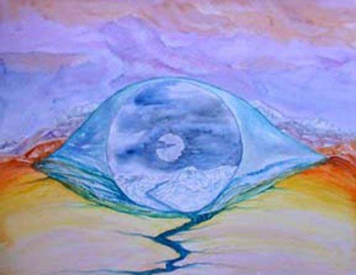 Original Contemporary watercolour art painting - Inisfree
