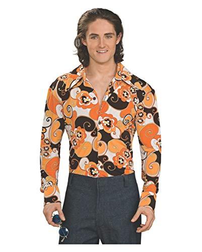 70er Jahre Groovy Hemd orange