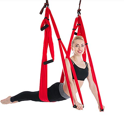 Fashion Style Anti Gravity Yoga Accessories Air Hammock Hanging Rope Climbing Chrysanthemum Fitness Equipment Outdoor Flat Belt Sports & Entertainment Fitness & Body Building