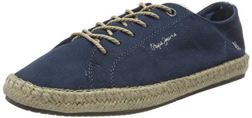 Pepe Jeans London Tourist Lamu Suede, Alpargata para Hombre, Azul Jarman 574, 41 EU