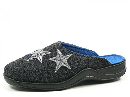 Rohde 2306-82 Vaasa-D Pantofole Donna Grau