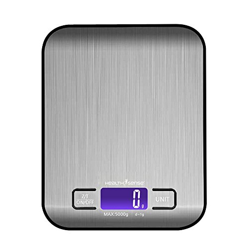HealthSense Chef-Mate KS 50 Digital Kitchen Scale (Grey)