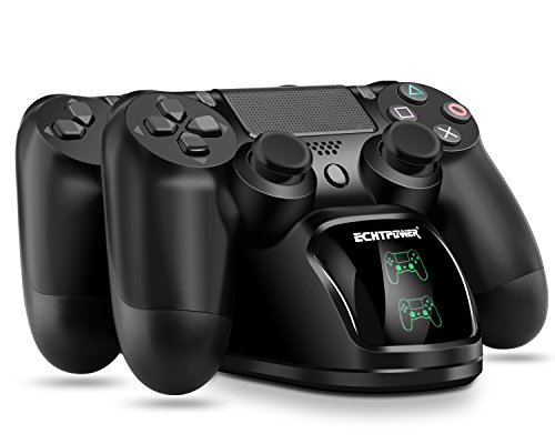 PS4 Chargeur ECHTPower DualShock 4 Station de Charge Support...