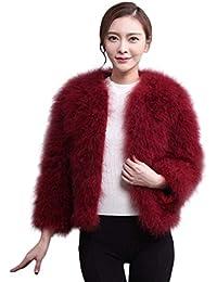 Pureed Abrigo Cortos Mujer Invierno Tallas Falsa Caliente Grandes Abrigos Exquisito Piel Piel Elegantes Joven Suave