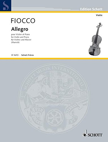SCHOTT FIOCCO JOSEPH-HECTOR - ALLEGRO - ...