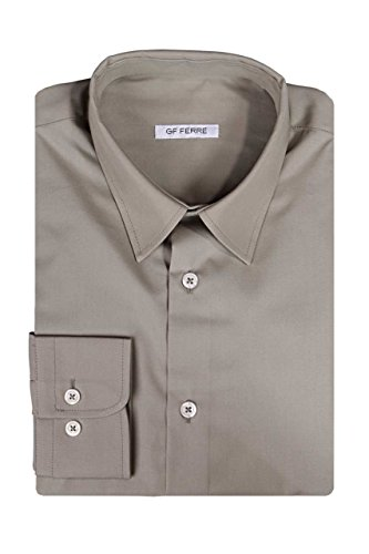 gianfranco-ferre-chemise-pour-homme-gf-over-couleur-taupe-gris-taille-col-39