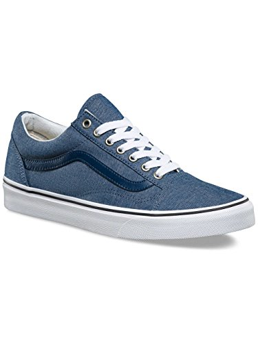 Vans U Old Skool, Chaussures de Sport Mixte Adulte Chambray / Blue