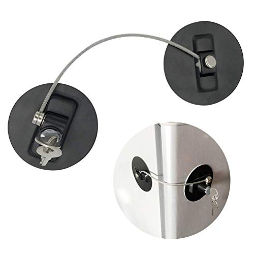 GCDN Ventana Restrictor Cerraduras con Cable de Seguridad para Infanti
