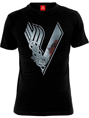 Vikings Logo Camiseta Negro M
