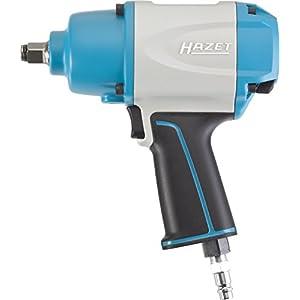 Hazet 9012-1SPC Clé à chocs/couple de desserrage maximal1000 Nm/carré massif 12,5 mm/mécanisme de frappe à marteaux jumelés