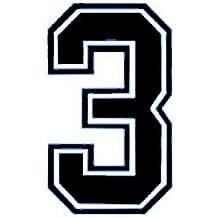 Números para planchar por transferencia de calor en camisetas deportivas, color negro