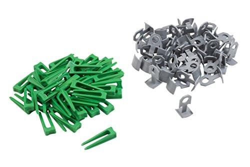 Meister Nivelliersystem für Fliesen 100-teilig ✓ Fliesendicke 7-15 mm ✓ Clips & Abstandhalter | Fliesen-Nivellierhilfe mit Zuglasche | Verlegehilfe mit Keilen | 4423000