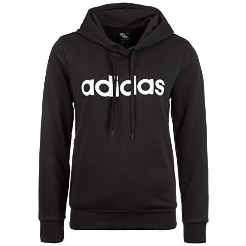 adidas Damen W E LIN OH HD Hoodie Mit Kapuze, Black/White, XL