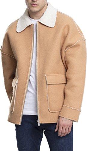 Urban Classics Herren Bonded Oversized Sherpa Jacket Jacke, Braun (Camel 804), XX-Large Xx Bonded Fleece