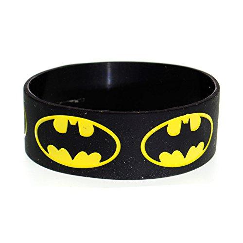 Bracciale Batman Logo DC Comics (Nero)
