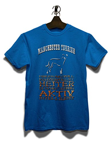 Hund Manchester Terrier Herren T-Shirt Royal Blau