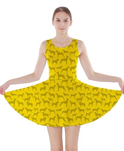 CowCow Damen Kleid Violett Violett Gelb