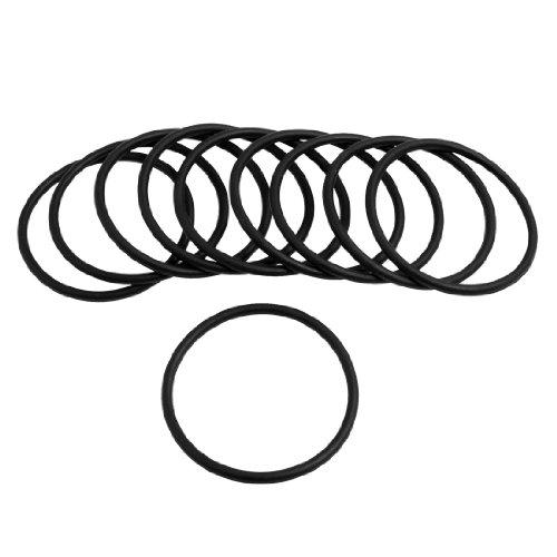 10Stück Black Rubber 40mm x 2.5mm Oil Seal O-Ringe Dichtungen Unterlegscheiben