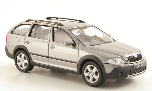 Preisvergleich Produktbild Skoda Octavia Combi Scout, met.-hellgrau, Modellauto, Fertigmodell, Abrex 1:43
