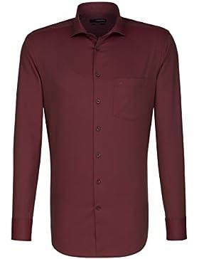 SEIDENSTICKER Herren Hemd Modern 1/1-Arm Bügelfrei Streifen City-Hemd Kent-Kragen Kombimanschette weitenverstellbar