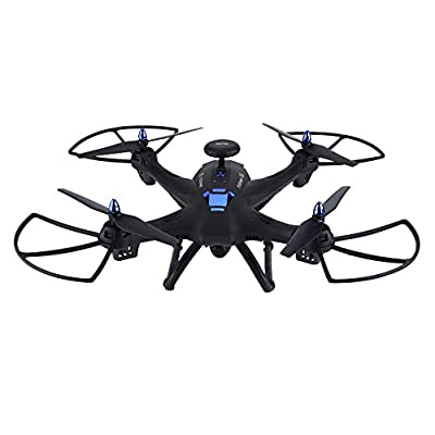 Wifi RC Quadcopter, Dual GPS 2.4GHz Remote Control Drone Altitude Hole Headless Mode Toy with 720P Camera by Dilwe