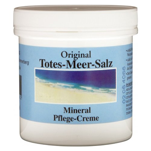 Alwag Totes Meer Salz Creme - 250 ml Mineral Pflege-Creme - mit Mineralsalzen, Weizenkeimöl und Avocadoöl, dermatologisch getestet