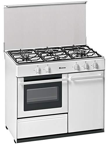 Meireles - Cocina portabombona con 4 quemadores a gas y horno a...