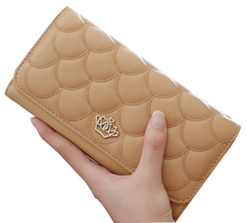 tina-womens-fashion-embossing-crown-long-patent-leather-wallet-purse-beige