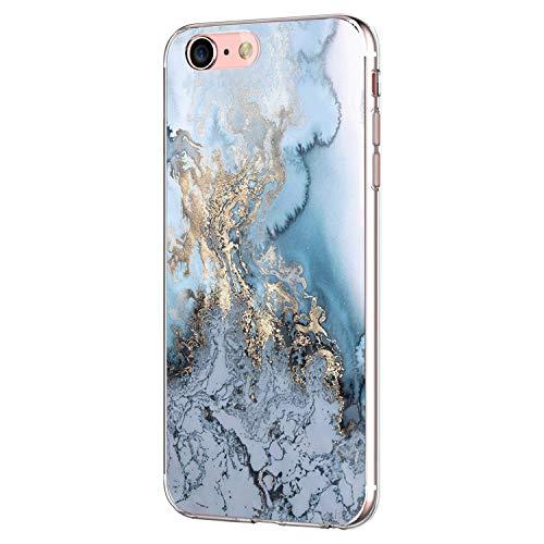 Pacyer iPhone 7 Hülle iPhone 8 Hülle Silikon Ultra dünn Transparent Handyhülle Durchsichtige Rückschale TPU Schutzhülle für Apple iPhone 7/8 Case Cover Marmor (8) -