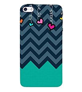 Wired Love Chevron 3D Hard Polycarbonate Designer Back Case Cover for Apple iPhone SE