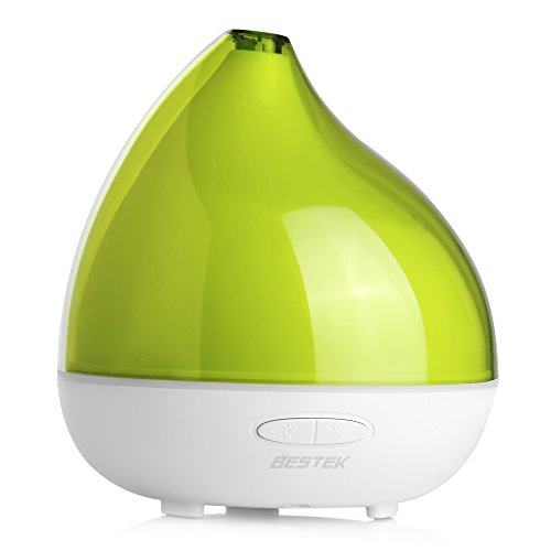 BESTEK 300ml Difusor de Aroma Difusor de Aceite Aroma Nebulizador Ultrasónico para Aromaterapia, Ideal para Yoga Spa Oficina Habitación Infantil