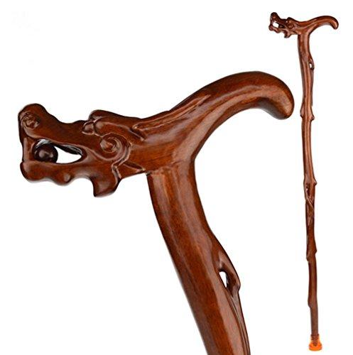 G&M solide Stöcke Spazierstock Holz Mahagoni Stöcke, Holz für ältere Menschen ältere ältere Walker Geburtstagsgeschenke Cane Kirsche Sport Krücke geschnitzt