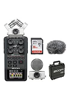 Zoom H6 Handy Recorder + 16GB Card + Accessory Pack