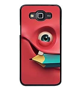 Fuson Premium 2D Back Case Cover Smily With pink Background Degined For Samsung Galaxy E5::Samsung Galaxy E5 E500F