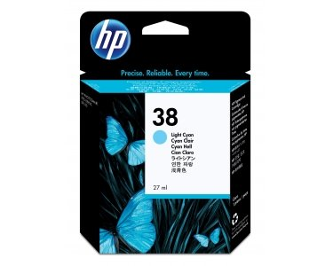 Preisvergleich Produktbild HP Tinte Nr. 38 hell-cyan für Photosmart Pro B9100