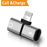 Lightning Adapter, Dongle Headphone jack Adapter para iPhone 7 / 7Plus iPhone 8 / 8Plus iPhone X. Adaptador Splitter para auriculares Aux Audio & Cargador Adapter Connector Cable Headset