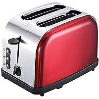 LIRONG Tostadora de Acero Inoxidable Tostadora Máquina de Desayuno para el hogar Completamente automática de 2